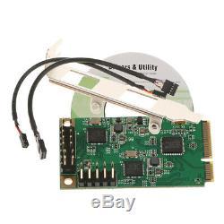 Mini Pcie Réseau Pci-express Gigabit Ethernet Adapter 2 Ports 100 / 1000m Carte