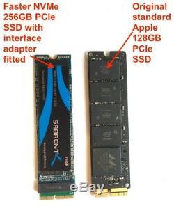 Mise À Niveau Macbook / Pro / Air 2013-17 Carte Pcie Ssd. Mac Formaté Amorçable Ssd