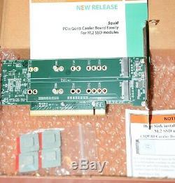 Nouveau 4 Slot Pcie Ssd Raid 2 M. Amfeltec Adaptateur Double Carte Mac Pro 2008 2012 Raid