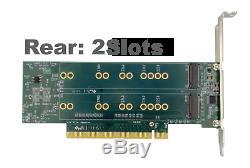 Nouveau 4 Slots Pcie M. 2 Ssd Raid Carte Adaptateur Amfeltec Quad Mac Pro 2008 2012 Raid