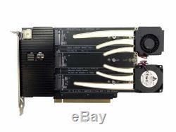 Nouveau Amfeltec 6-slot Pcie M. 2 Ssd Hexa Slot Adaptateur De Carte Raid Pour Mac Pro Neu