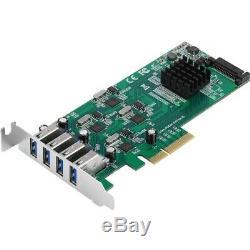 Nouveau Siig Ju-p40811-s1 4 Ports Usb 3.0 Superspeed carte Pcie Quad Core Adaptateur