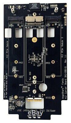 Nouvel Amfeltec Angelshark Nvme Pcie Ssd Pcie Carte Adaptateur 3 Emplacements Pour Mac Pro 6,1 (2013)