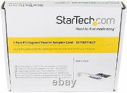 Nouvelle Carte D'adaptateur Parallèle À Double Profil Startech 1 Port Pci Express Spp/epp/ecp