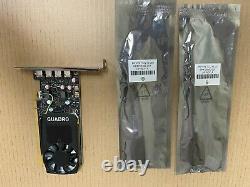 Nouvelle HP Nvidia Quadro P620 2 Go Pcie Graphics Card Avec 2 X Adaptateurs