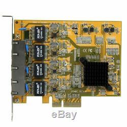 Nouvelle Startech. Com 4 Ports Réseau Gigabit Pcie Carte Adaptateur St1000spex43