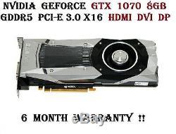 Nvidia Geforce Gtx 1070 8 Go Gddr5 Pci-express 3.0 X16 X3r6m Graphics Carte Vidéo