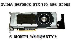 Nvidia Geforce Gtx 770 2 Go Gddr5 256-bit Pci-e 3.0 198w2 Carte Graphique Vidéo