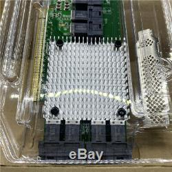 Nvme Plx Carte Adaptateur Pcie3.0 X16 Intégré À L'interface 8643 À 8 Ports À U. 2 Nvme
