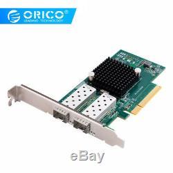 Orico 10 Gigabit Adaptateur Réseau Double Port Pcie Carte Réseau Intel82599 Chip