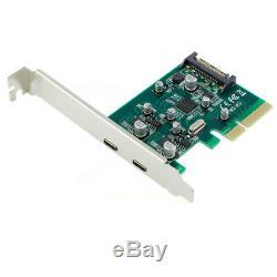 Pci-e 4x Express Usb 3.1 Usb Type-c C Dual Port Ajouter Sur Adaptateur De Carte D'extension