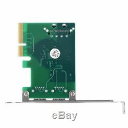 Pci-e À Double Usb 3.1 Type A Extender Carte D'extension Adaptateur 10gbps 4pin Alimentation