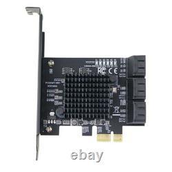 Pcie 2.0 X1 À SATA III 6 Ports Carte Adaptateur Marvell Chipset Non-raid