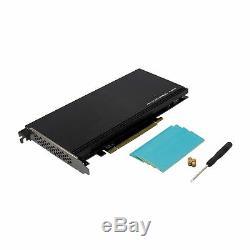 Pcie 3.0 X16 Plx8747 À 4 Port 2 M. Nvme Ssd Adaptateur De Carte D'extension Mkey Nvme