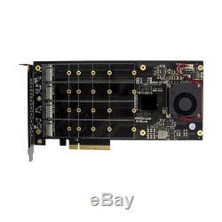 Pcie 3.0 X4 Plx8724 À 4 Port 2 M. Nvme Ssd Adaptateur De Carte D'extension Quad Mkey Nvme