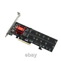 Pcie 3.1 X8 Asm1812 À 2 Ports M. 2 Carte D'extension Ssd Nvme
