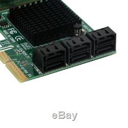 Pcie 4x Pour Sata3.0 6port Hub Adaptateur Contrôleur De Disque Carte D'extension Mining