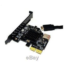 Pcie Usb 3.1 Type E Panneau Avant Socket Adaptateur Express Card Pour Carte Mère