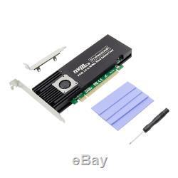 Pcie X16 Asm2824 À 4 Ports M. 2 Nvme Ssd Carte D'extension Adaptateur Mkey Nvme Pcie