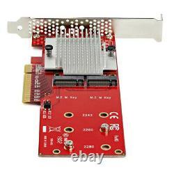 Pex8m2e2 Startech. Com Double M. 2 Pcie Ssd Carte Adaptateur X8 / X16 Nvme Ou Ahci T D