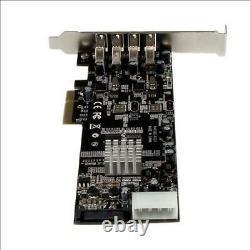 Pexusb3s42v Startech 4 Port Dual Bus Pci Express Pcie Usb 3.0 Adaptateur De Carte Uasp