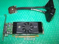 Pny Nvs420 512 Mo Pcie Quad Moniteurs Carte Graphique + Adaptateur DVI