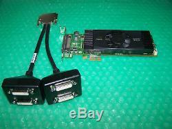 Pny Nvs420 Lp Pcie X1 512 Mo Quad Moniteurs Carte Graphique + Adaptateur DVI