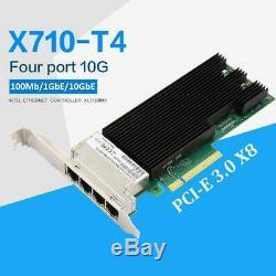 Pour Intel Xl710bm1 10gbps Réseau Ethernet Carte 4 Ports Pci-e Lan Adapter X710-t4