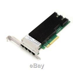 Quad 10gbps Rj45 Carte Réseau Carte Réseau Pci-e3.0 Pour Pc De Bureau Pour Intel
