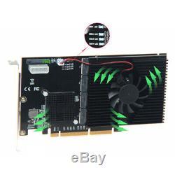 Quad 4 Port 2 M. Nvme Raid Pcie 3.0 X16 Adaptateur De Carte À Puce De Contrôle Avec Asm2824