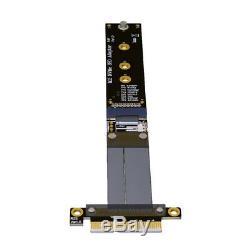 Riser Pcie 4x Câble D'extension M2 2 M. Nvme Ssd Pcie X4 Carte Adaptateur Full Speed