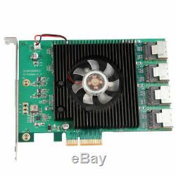 SATA Pcie Adaptateur 16 Ports SATA 3 À Extension Pcie Pcie Card Converter À Double
