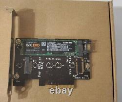 Samsung Mz-n6e2t0 860 Evo V-nand SATA M. 2 Ssd 2tb Avec Carte D'adaptateur Pci-e