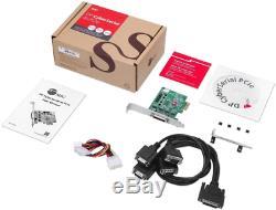 Siig Dp Cyber série 4s Adaptateur Pcie 4x Ajouter Rs-232 16550 Uart Série