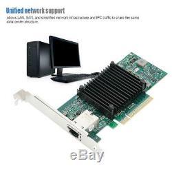 St7213 Pci-e X8 10g Rj45 Unique 10 Gigabit Ethernet Serveur Réseau Adaptateur De Carte