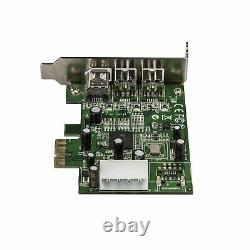 Star Tech 3-port 2b 1a Faible Profil Pci Express Firewire Carte D'extension