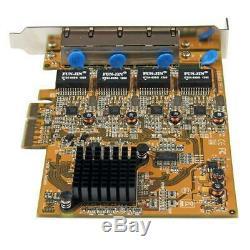 Startech 4 Ports Pcie Réseau Gigabit Carte Adaptateur