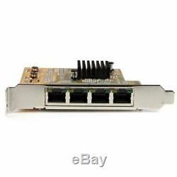 Startech 4 Ports Pcie Réseau Gigabit Carte Adaptateur St1000spex43