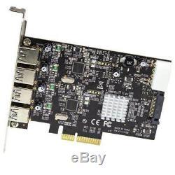 Startech 4 Ports Usb 3.1 Gen 2 (10gbps) Adaptateur Pcie
