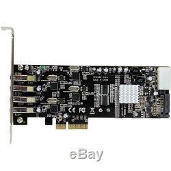 Startech. Com 4 Port Quad Bus Pci Express Pcie Superspeed usb Adapter Card 3.0