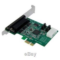 Startech. Com 4 Ports Pci Express Native Rs232 Carte Adaptateur Série Avec 16950 Uart