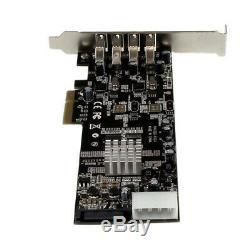 Startech. Com 4 Ports Pci Express (pcie) Superspeed adaptateur De Carte Usb 3.0 Avec 2 Dedi