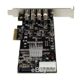 Startech. Com 4 Ports Pci Express (pcie) Superspeed adaptateur De Carte Usb 3.0 Avec 4 Dedi