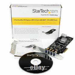 Startech. Com 4 Ports Pci Express (pcie) Superspeed carte Adaptateur Usb 3.0 Avec 2
