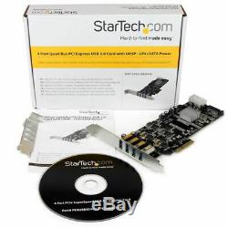 Startech. Com 4 Ports Pci Express (pcie) Superspeed carte Adaptateur Usb 3.0 Avec 4