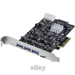 Startech. Com Usb 3.1 Pcie Card 3x Usb-a Et 1 X Usb-c 2x Canaux Dédiés