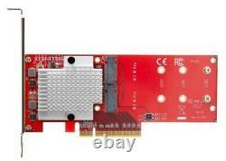 Startech Double M. 2 Pcie 3.0 Ssd Card Adapter Pex8m2e2 Mise À Niveau Mac Pro Vieux