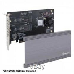 Syba Si-pex40129 Carte I / O Double M. 2 Nvme Port Pcie3.0x16 À 2xm-key Adaptateur