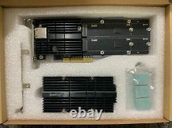 Synologie E10m20-t1 M. 2 Carte D'adaptateur Combo Ssd 10gbe Légèrement Utilisée 2 Mois