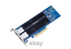 Synology E10g18-t2 Carte Ethernet Extension Adaptateur Double Rj45 Ports 10gb